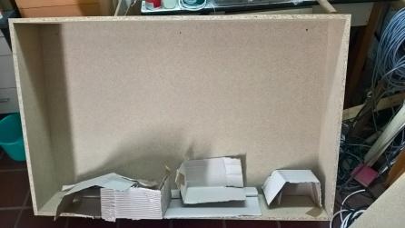 Die Verpackungsbretter kann man noch benutzen